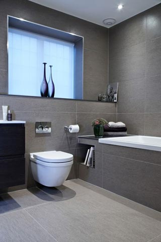 new bathrooms fitted by d cowan in hampshire - illustration of a bathroom