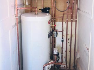 boiler unvented cylinder heating Southsea